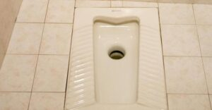 مرحاض عربي مكان الافرنجي