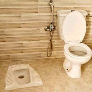 تركيب مرحاض افرنجي فوق العربي بالكويت